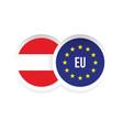 austria european union badge flag vector image