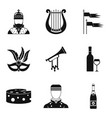 avocation icons set simple style vector image vector image