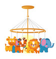 baby carousel with hanging toys isolated on white vector image