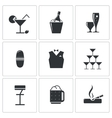 Bar icons set vector image vector image