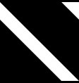 black and white diagonal striped seamless pattern vector image