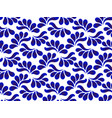 blue and white ceramic pattern with leaves vector image vector image