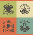 Boxing martial arts vintage labels