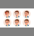 business avatar man comic emotions vector image vector image