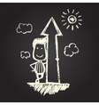 chalked character vector image