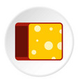 cheese icon flat style vector image vector image