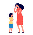 child abuse parent abusing kid mother shouts to vector image vector image