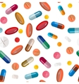 Collection of pills and capsules Seamless vector image vector image