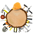 Construction Wooden Board with Tools vector image vector image