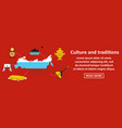 culture and traditions russia banner horizontal vector image vector image