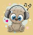 cute cartoon teddy bear vector image vector image