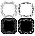 decorative scroll frames vector image vector image