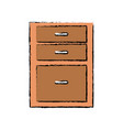 drawers from wooden cabinet image vector image vector image