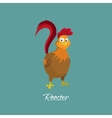 drawing cock in cartoon style rooster vector image