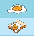 egg yolk chicks and white bread vector image vector image