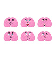 Emotions brain Set emoji avatar brains Good and vector image vector image