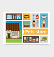 flat pets shop composition vector image vector image
