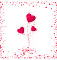 flower from red paper hearts romantic scattered vector image