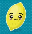 fresh lemon fruit kawaii character vector image