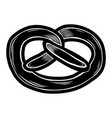 fresh pretzel icon hand drawn style vector image