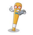 gamer baseball bat character cartoon vector image vector image