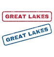 Great Lakes Rubber Stamps vector image vector image