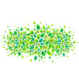 green fresh leaves banner background vector image vector image