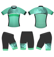 Green polygons cycling vest vector image vector image