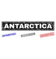 grunge antarctica scratched rectangle watermarks vector image vector image
