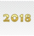 happy new year golden numbers gold numbers 2018 vector image vector image