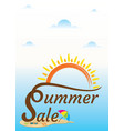 hot summer sale banner design vector image vector image
