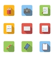 Job search icons set flat style vector image