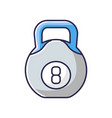 kettlebell rgb color icon vector image