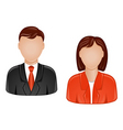 man and woman avatars vector image vector image