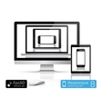 Modern laptop glossy tablet and smartphone vector image vector image
