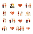 Non-traditional family icons set flat vector image vector image