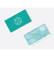objects business card vector image vector image