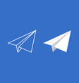paper plane icon set origami paper vector image vector image