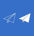 paper plane icon set origami vector image