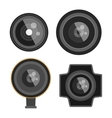 Photo optic lenses set vector image vector image