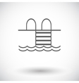 Pool flat icon vector image