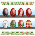 pysanky - traditional eastern europe decorated vector image