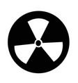 radioactivity sign icon vector image vector image