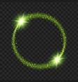 round green glow light effect stars bursts vector image
