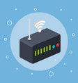 router modem wifi internet signal connection vector image