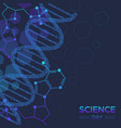 science day biology dna strand background vector image vector image