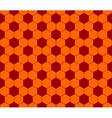 Seamless football pattern red orange EPS 10 vector image