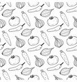 seamless pattern with image vegetables vector image