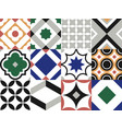 seamless tile pattern vintage decorative design vector image