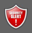 Security alert shield vector image vector image